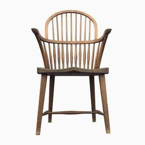 CH 18A High Back Spindle Windsor Oak Chair by Frits Henningsen for Carl Hansen & Søn, 1930s