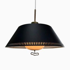 Lampe à Suspension Noire par Bent Karlby pour Lyfa, 1950s