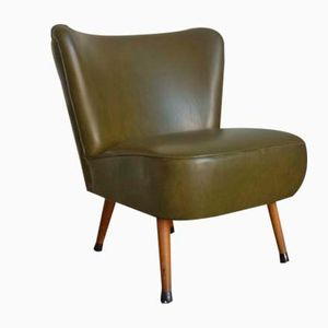 Vintage Green Skai Cocktail Chair, 1960s