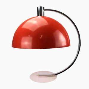 Grande Lampe de Bureau Rouge de Hustadt Leuchten, Allemagne, 1970s