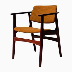 Scandinavian Solid Teak Desk Chair