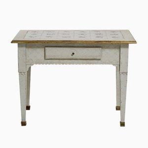 Table Console Antique Scandinave avec Plateau Carrelé