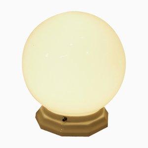 Lampe de Bureau Art Déco en Verre Opalin, France