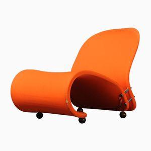 Fauteuil Lounge Orange, 1970s
