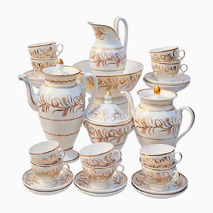 French Empire Old Paris Porcelain Coffee & Tea Service