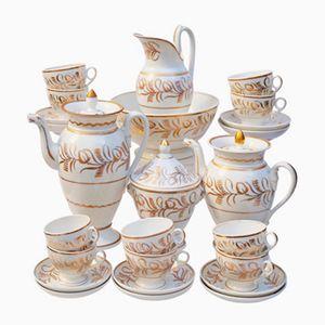 French Empire Vieux Paris Kaffee & Tee Service aus Porzellan