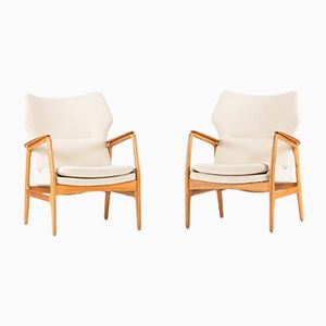 Lounge Chairs by Aksel Bender Madsen for Willy Beck, 1950s, Set of 2