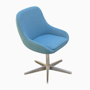 Soft Padded Sky Blue Office Chair, 1970s