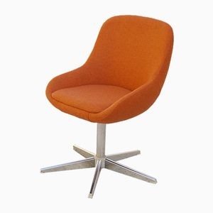 Soft Padded Orange Office Chair, 1970s