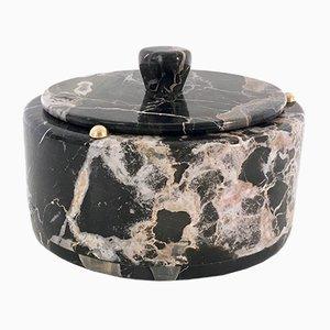 Italian Portoro Marble Box, 1970s
