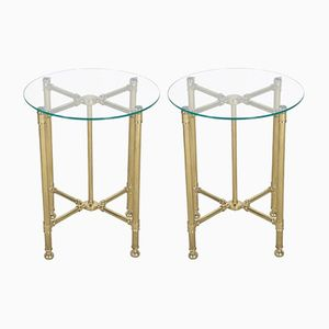 Articulated Brass Campaign Tables, 1860s, Set of 2