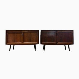 Dänische Mid-Century Vintage Palisander Sideboards, 2er Set
