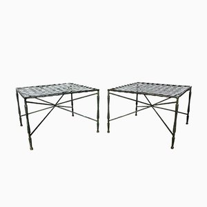 Architectural Iron Stools by John Salterini, 1950s, Set of 2