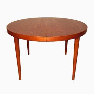 Skandinavischer Runder Vintage Tisch aus Teak von Kai Kristiansen