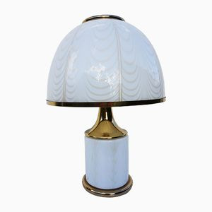 Murano Double Lit Table Lamp by Fabbian for Mazzega, 1970s