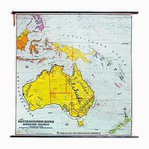 Wandtafel von Australien von Dr. Jensen, 1952