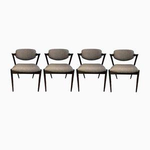 Chaises de Salle à MAnger Modèle Vintage en Palissandre par Kai Kristiansen, Set de 4