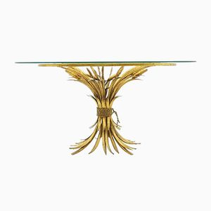 Gold Oval Wheat Coffee Table