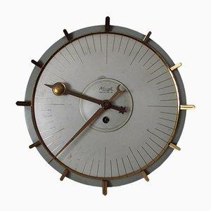 Orologio a muro in ottone di Kienzle International, anni '60