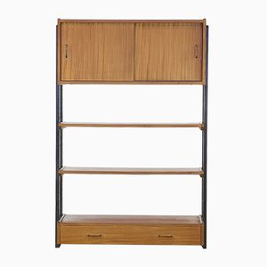 Teak and Wood Wall Unit from SimplaLux, 1950s