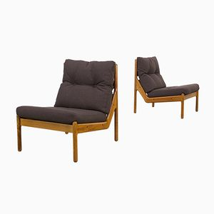 Danish Low Easy Chairs from CFC Silkeborg, Set of 2