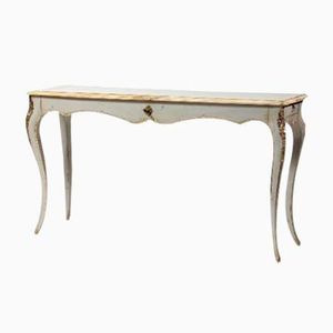 Vintage French Light Grey Console Table