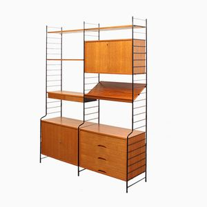 Vintage Free-Standing Teak Wall Unit from WHB
