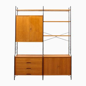 Free-Standing Teak Wall Unit from WHB