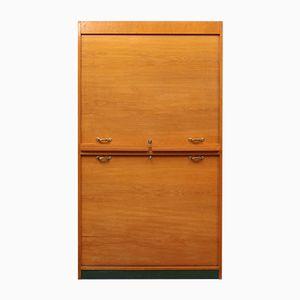 Light Oak Roll-Fronted Cabinet, 1950s