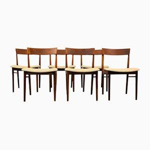 Mid-Century Palisander Esszimmerstühle von Henry Rosengren für Brande, 6er Set