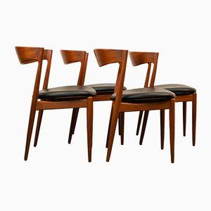 Dänische Mid-Century Esszimmerstühle von Bramin, 1960er, 4er Set