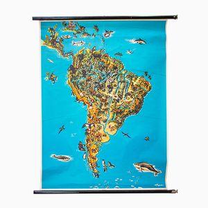 Tiere Südamerikas Weltkarte, 1964