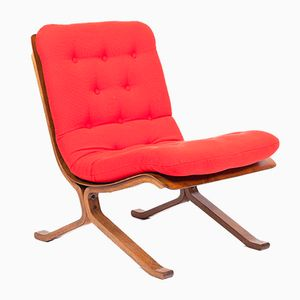 Vintage Red Easy Chair, 1980s