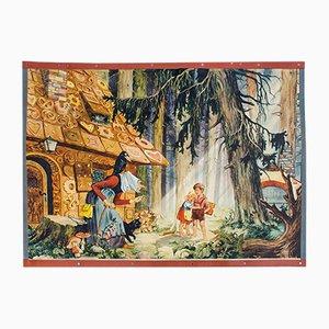 Hänsel und Gretel Märchen Lehrtafel von E. Schütz, 1931