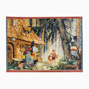Hansel and Gretel Fairy Tale School Wall Chart by E. Schütz, 1931