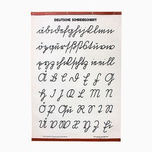 Cursive Letters Wall Chart from Österreichischer Lehrmittelverlag, 1951