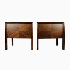 Mahogany Nightstands by Edmond J. Spence, 1950s, Set of 2