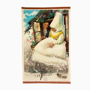 Poster della fiaba Frau Holle di E. Dirr, 1952