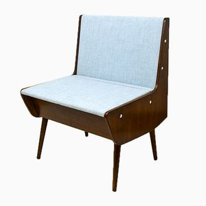 Vintage Bench with Storage Compartment, 1970s