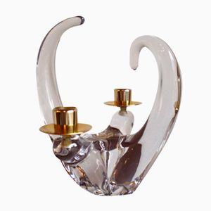 Kristallglas Kerzenhalter von Scheider, 1960er