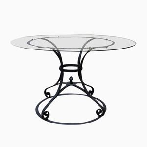Antique Wrought-Iron and Glass Centre Table, 1900s
