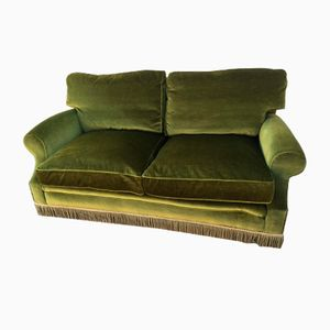 Italian Curved Velvet Sofa From Isa 1960s For Sale At Pamono
