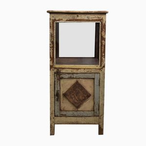 Indian Teak and Glass Display-Case
