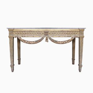 Louis XVI Giltwood Console Table, 1700s