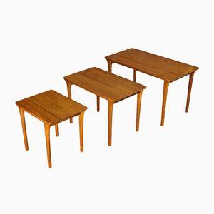 Mid-Century Danish Solid Teak Nesting Tables