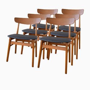 Danish Teak and Beech Dining Chairs