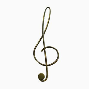 Austrian Treble Clef Shaped Paper Clip by Carl Auböck