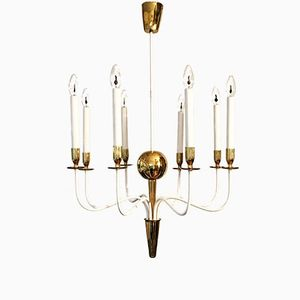 Modernist Brass Chandelier, 1950s