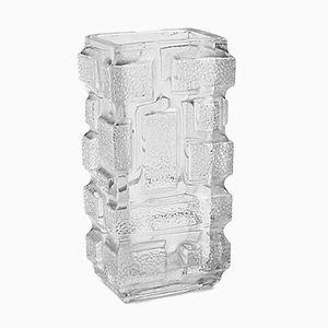 Vase en Verre Géométrique Brickwork par Jizi Zejmon pour Rodolfa Glassworks, 1960s