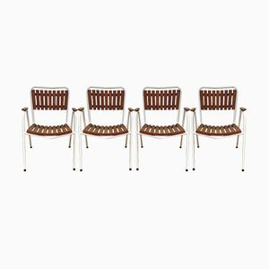 Mid-Century Danish Garden Chairs by Daneline, Set of 4